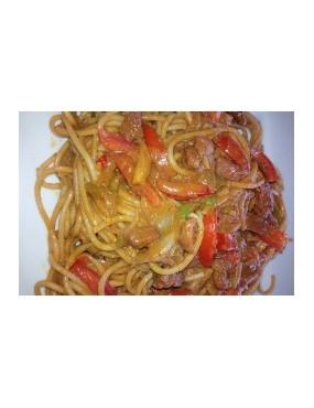 Spaguetti + sauce tomate