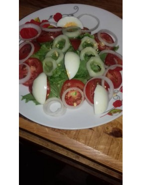 Salade verte au concombres...