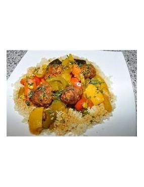 Plat de couscous viande