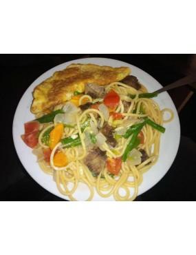 Spaghetti blanc au légumes