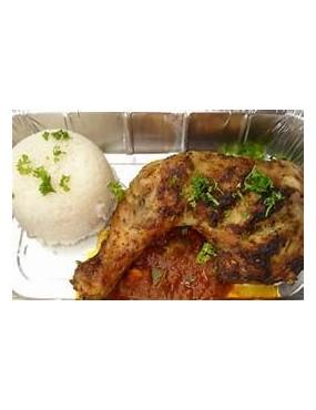 Demi poulet congelé + riz...