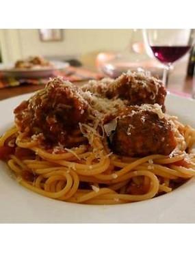 Spaghetti avec viande de boeuf