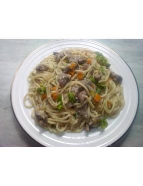 Spaguetti blanc au légumes