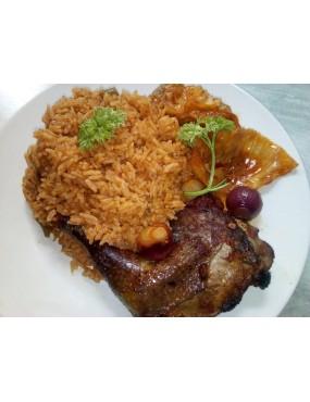 Poulet grillé+ riz au gras