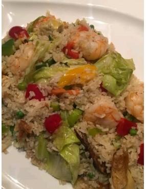 Riz aux légumes avk du poulet