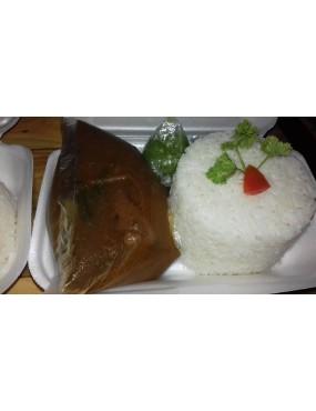 Riz blanc +sauce poulet