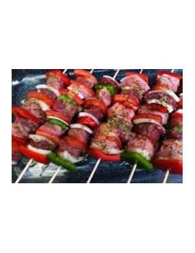 Brochette de viande +Riz