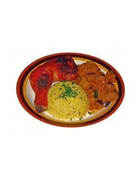 riz au gras + 1/2 poulet