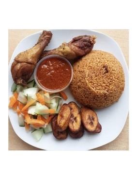 Riz au gras + poulet
